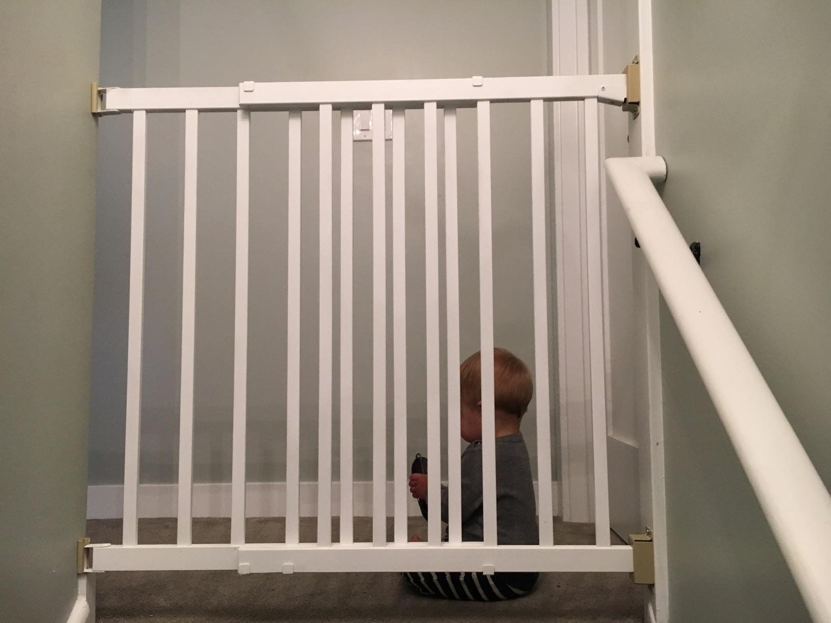 Evenflo Top of Stair Plus Gate Baby Decor
