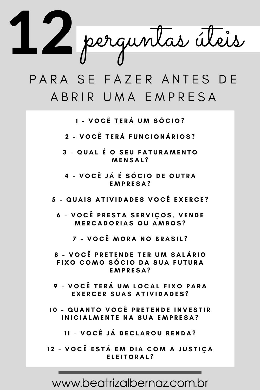 12 PERGUNTAS ÚTEIS PARA SE FAZER ANTES DE ABRIR UM...