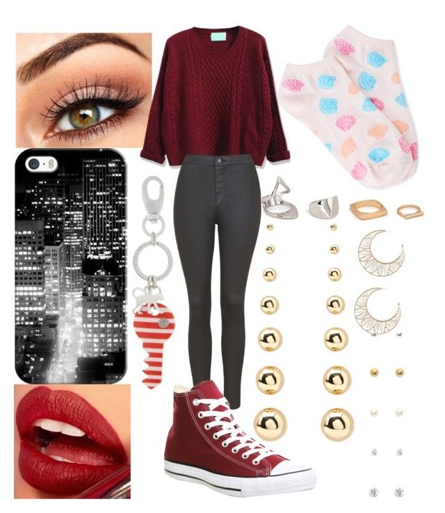 """""""Valentine's shopping"""" by xo-arissa-xo ❤ liked on Polyvore featuring WithChic, Topshop, Converse, Forever 21, Casetify, Kipling, women's clothing, women, female and woman"""