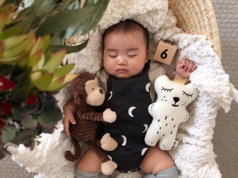Neutral Sleepy Bear Soft Toy, Polar bear plush toy, Teddy bear, polar bear, bears, woodland animal, stuffed animal, Baby Shower gift, Plush #bearplushtoy