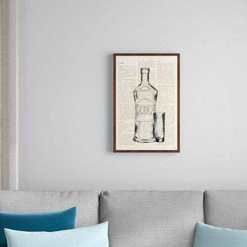 Photo of East Urban Home Gerahmtes Poster Vodka History