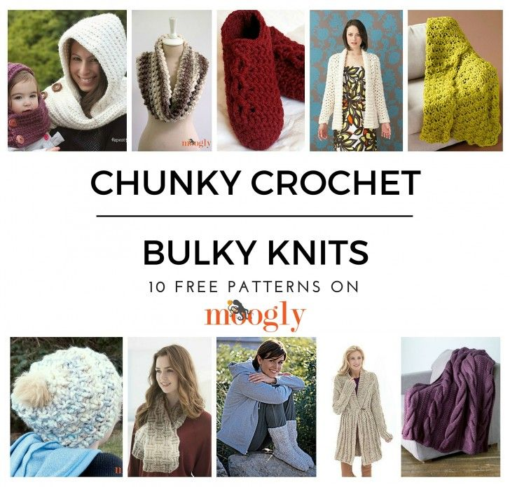 Chunky Crochet & Bulky Knits - Stay Warm With 10 Free Patterns ...