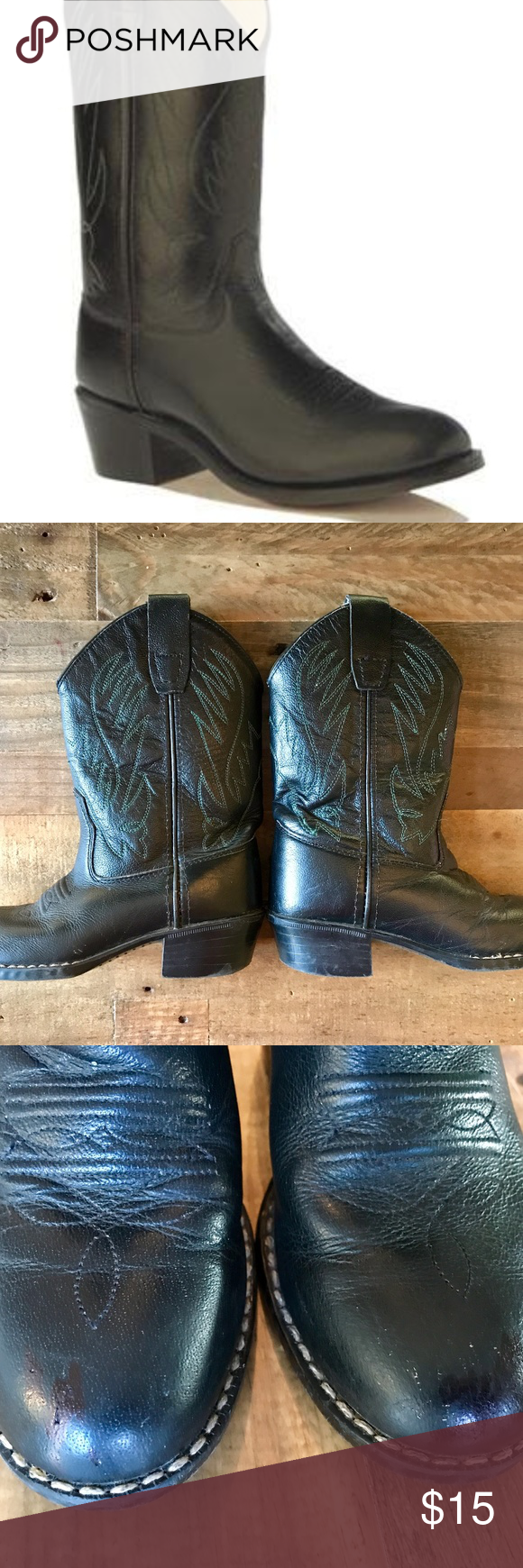 Old West Toddler Black Cowboy Boots Black Cowboy Boots Boots Black Leather Boots