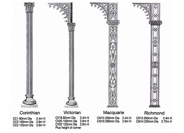 Wrought Iron Columns Reproduced In Aluminium Casa Maia Casas Serralheria