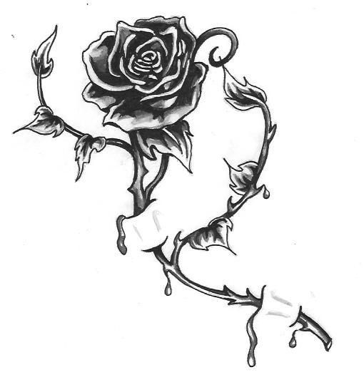 bleeding rose my style pinterest bleeding rose rose tattoos and tattoo. Black Bedroom Furniture Sets. Home Design Ideas