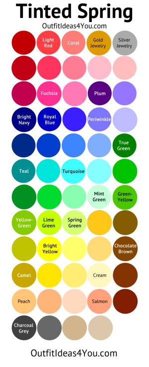 Tinted Spring Color Palette (Light Spring)
