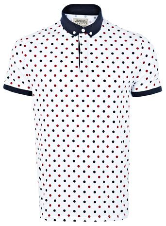 e454a266f White Polka Dot Polo Shirt