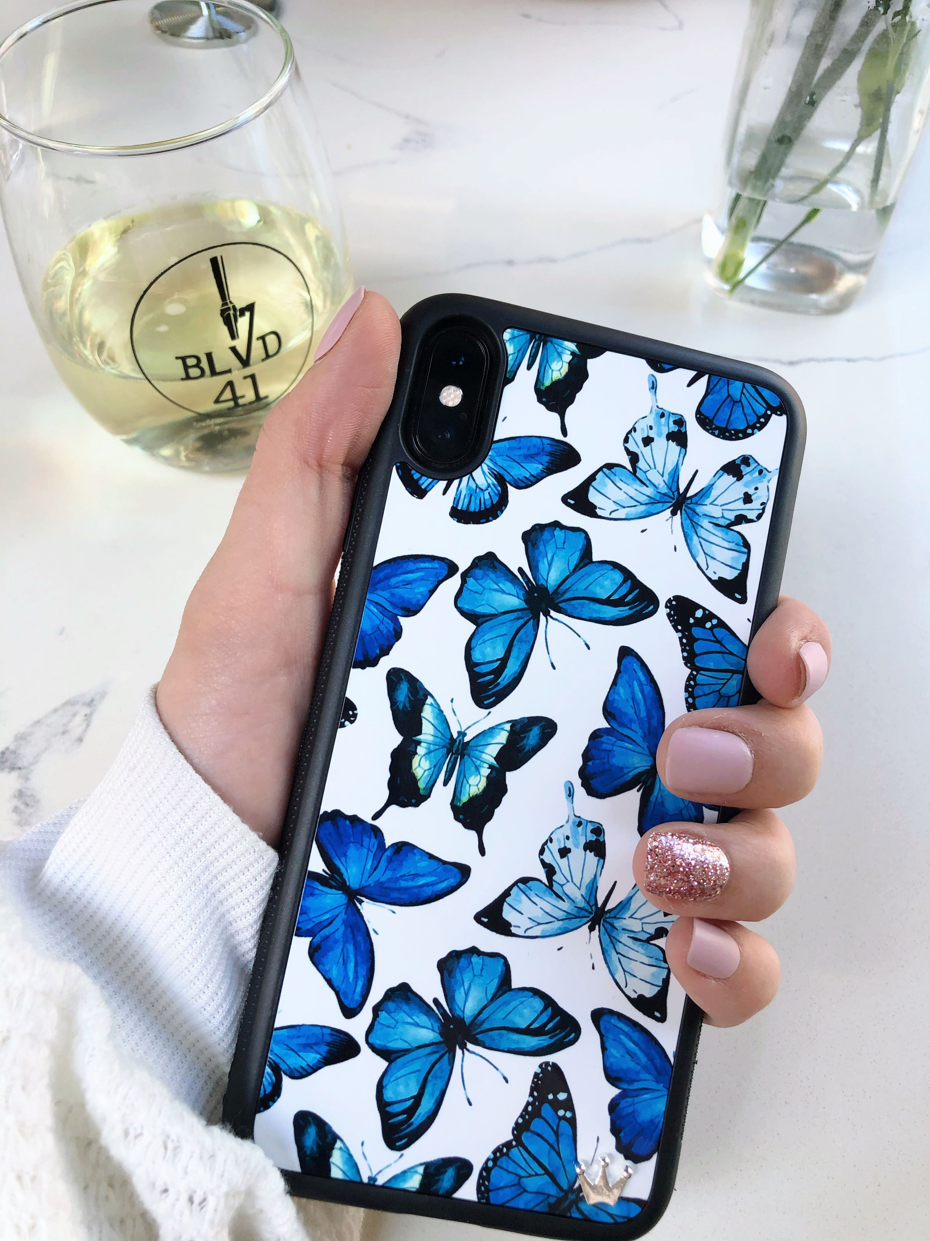 wildflower butterfly case iphone 11 pro max