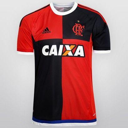 d105743f8f Camisa Adidas Flamengo 450 anos s nº - Preto e Vermelho