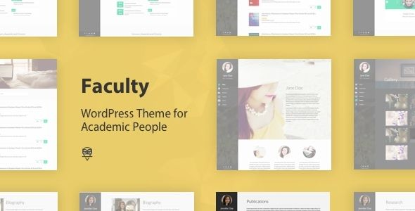 Faculty - Responsive Academic WordPress Theme | Wordpress and ...