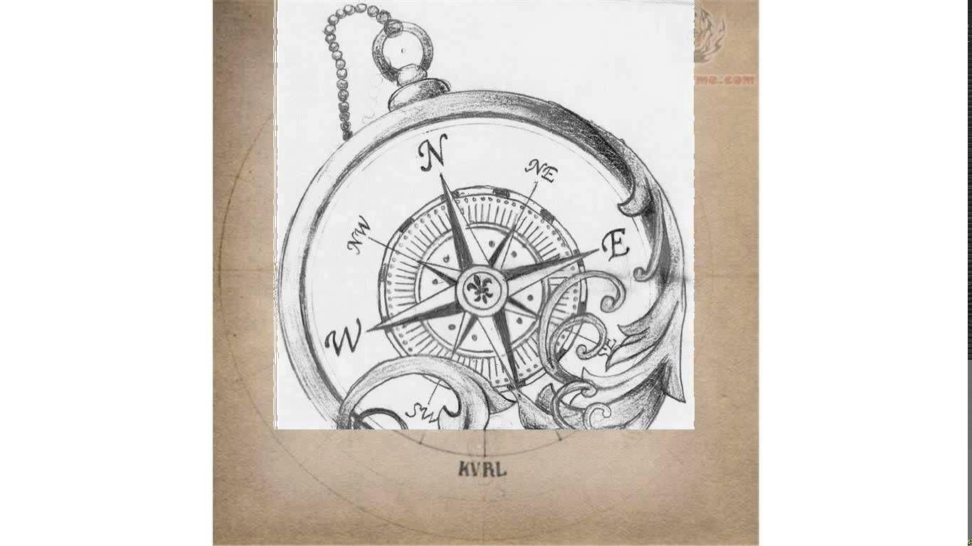Feminine Compass Rose Tattoo