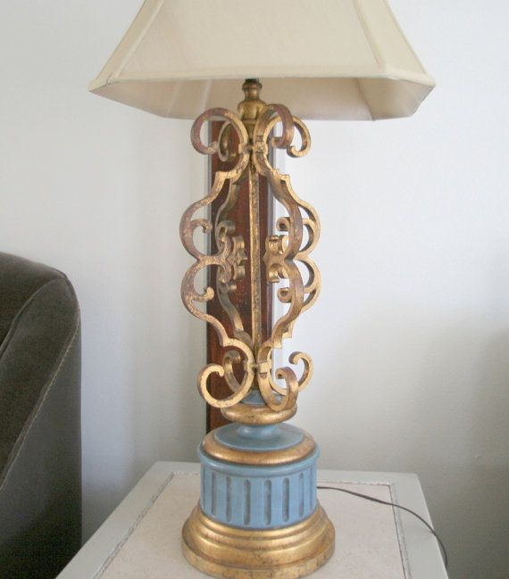 Vintage Table Lamp Gold Gild Hollywood by VintageRevivalLiving, $130.00