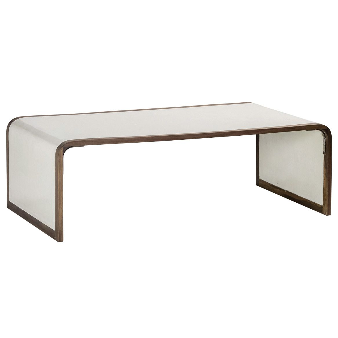 Lovely Gabbyu0027s Shelby Coffee Table Stuns With Minimalist Glamour. With A Modern  Waterfall Edge, This Furnishing Features Natural Wood And Resin Covered, ...