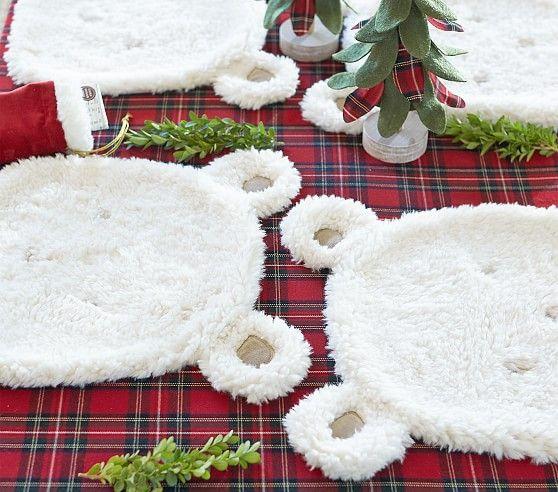 Sherpa Polar Bear Placemat Kids Holiday Shop Placemats