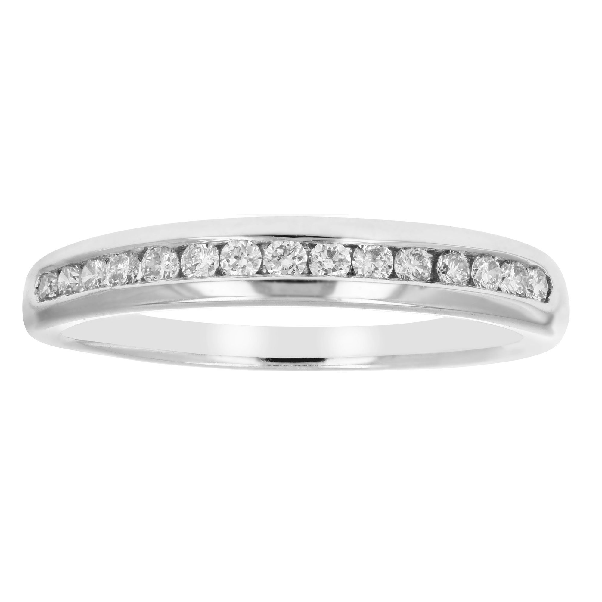 1/5 ctw Classic Diamond Wedding Band in 10K White Gold In