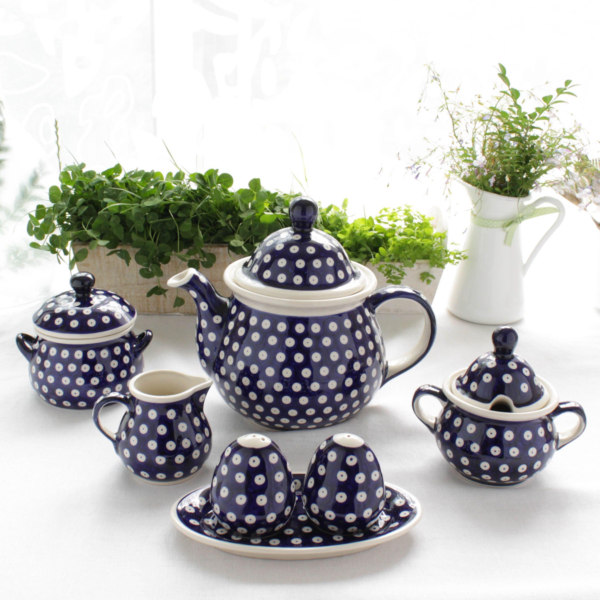 Polish pottery boleslawiec tea set how cute chuladas pinterest teteras vajillas y - Vajilla rustica ...