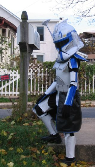 Rex Clone Trooper from Star Wars. 8 year old's costume 2009