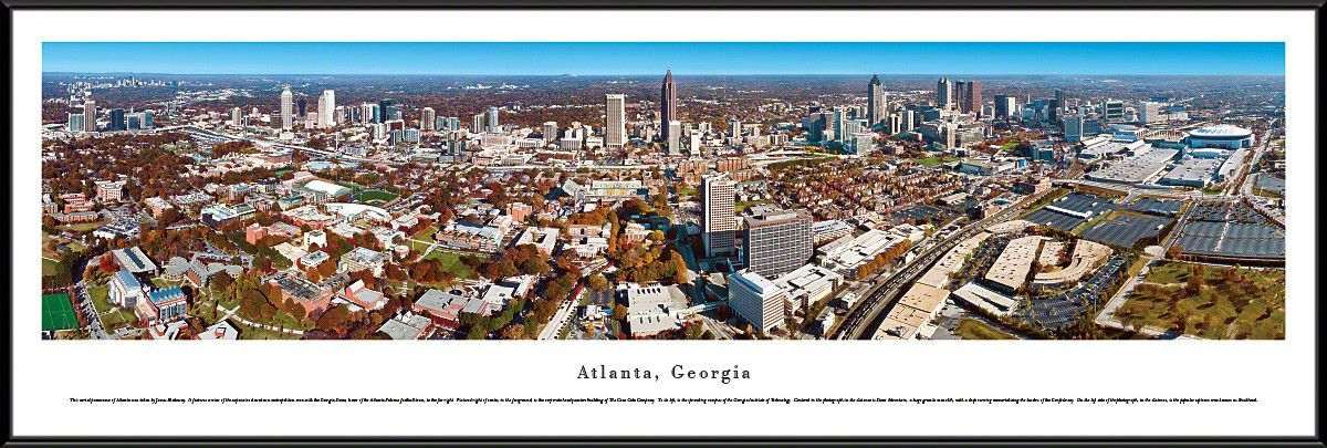Atlanta Skyline Panoramic Picture Framed, Georgia | Products ...