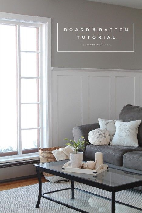 Board And Batten Tutorial Living Room Remodel Home Home Decor