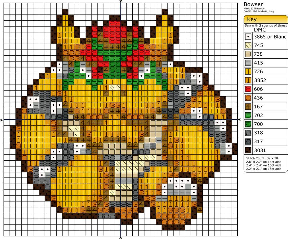 Bowser, nintendo, mario   Cross Stitch Patterns   Pinterest