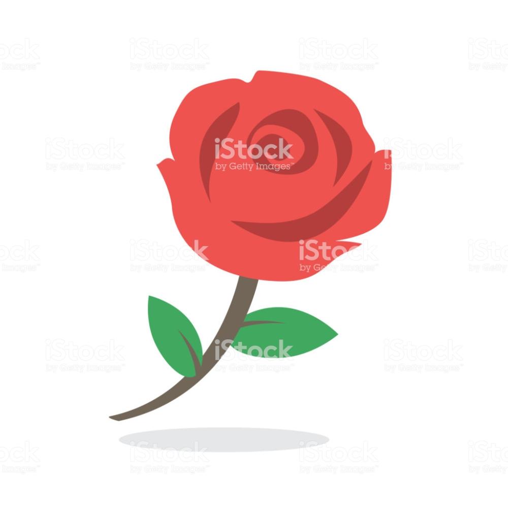red rose icon flat design flower free vector art smiley vektor vektorgrafik svg