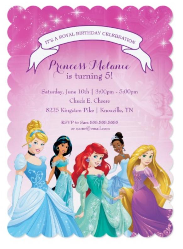 Birthday Party Invitations Disney Princess Girls Ideas Girlsbirthday Princessbirthday Princessbirthdayparty