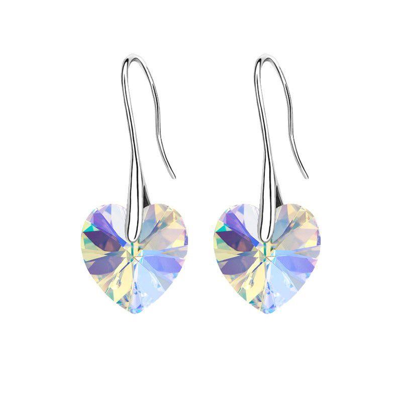 crystal heart pendant eardrop earrings Made with Swarovski ...
