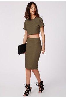 Alica Crepe Midi Skirt Khaki | My Style | Pinterest | Midi skirts ...