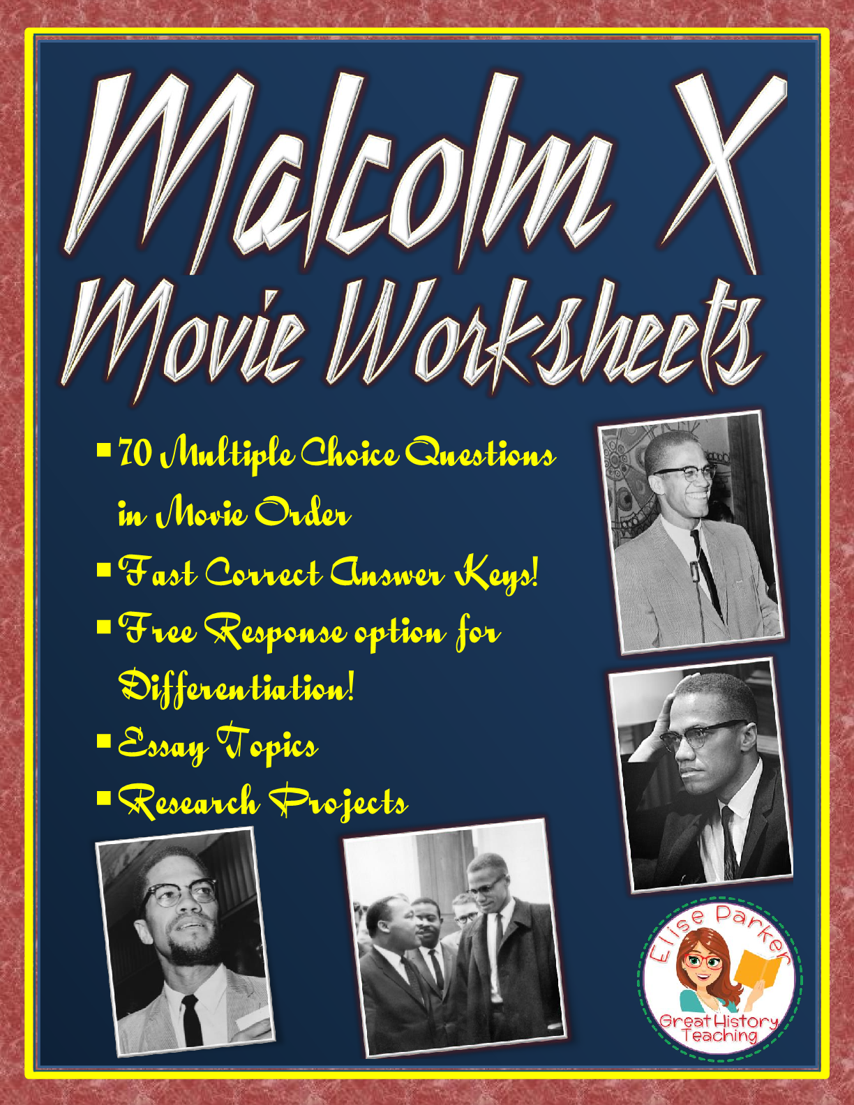 Malcolm X Movie Worksheets Essay Prompts And Research