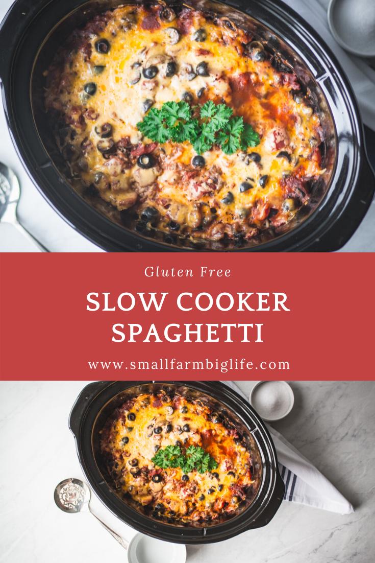 Gluten Free Slow Cooker Spaghetti Recipe In 2020 Slow Cooker Spaghetti Homecooked Meals Gluten Free Recipes Easy