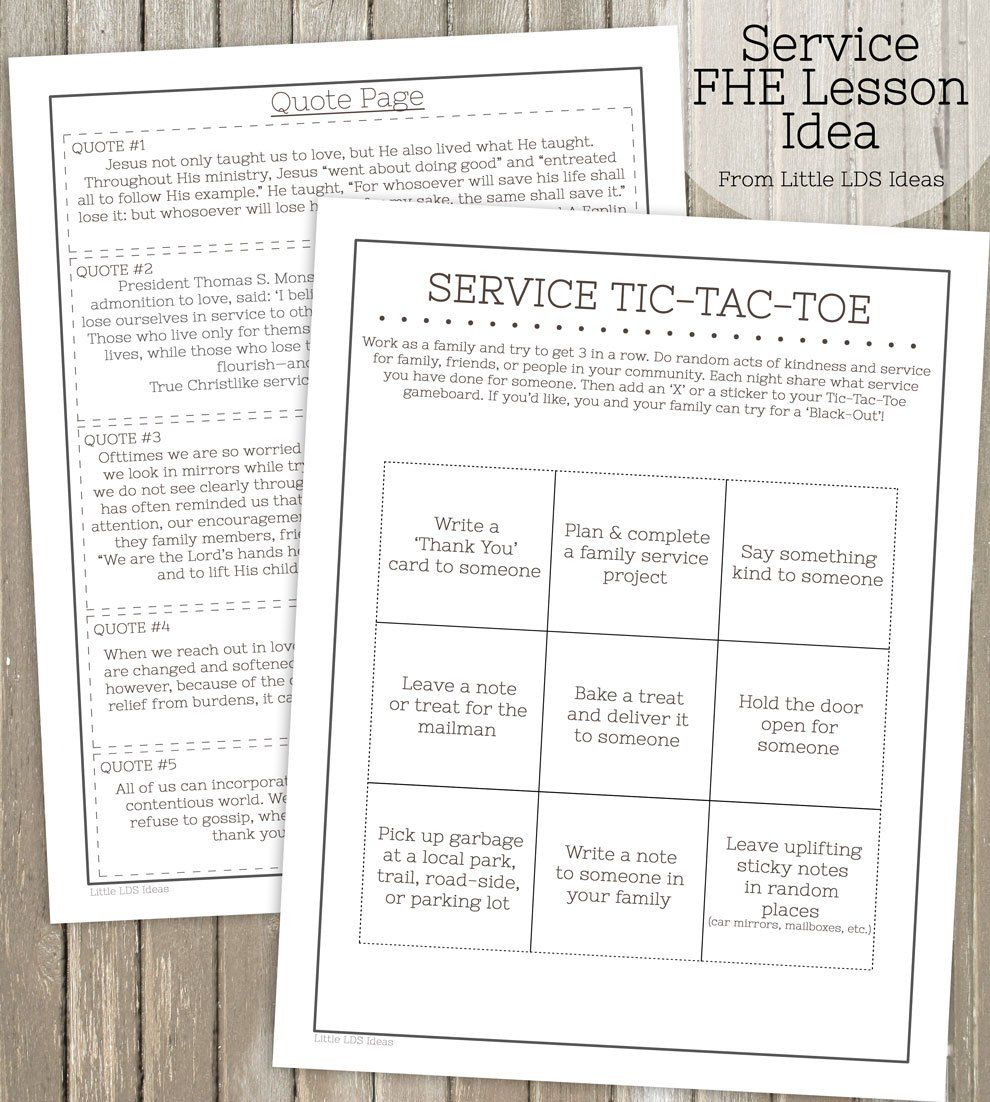 Teach your family about the importance of service with this fun FHE ...