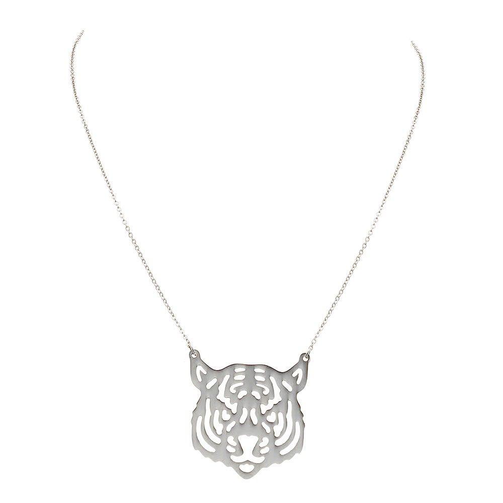 a035f17d5df498 Collier Tigre (argenté) - ZAG Bijoux Fantaisie Créateurs   Bijoux ...
