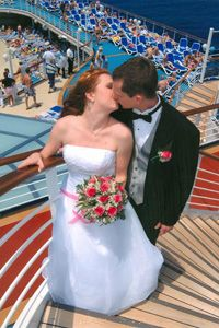 The 11 Best Cruise Lines For Weddings A Bride And Groom Celebrate With A Postnuptial Smooch Carnival Cruise Wedding Cruise Wedding Cruise Ship Wedding