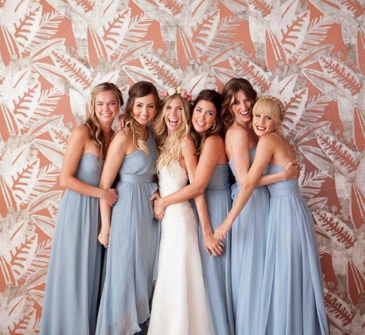 Dusky Blue Bridesmaids Dresses Dusky Blue Wedding Unique Bridesmaid Dresses Bridesmaid Dress Colors