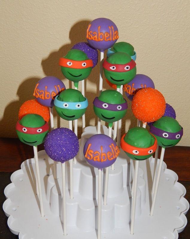 Ninja Turtle Cake Pops Ninja Turtle Cake Pops Tmnt Birthday Ninja Turtle Birthday