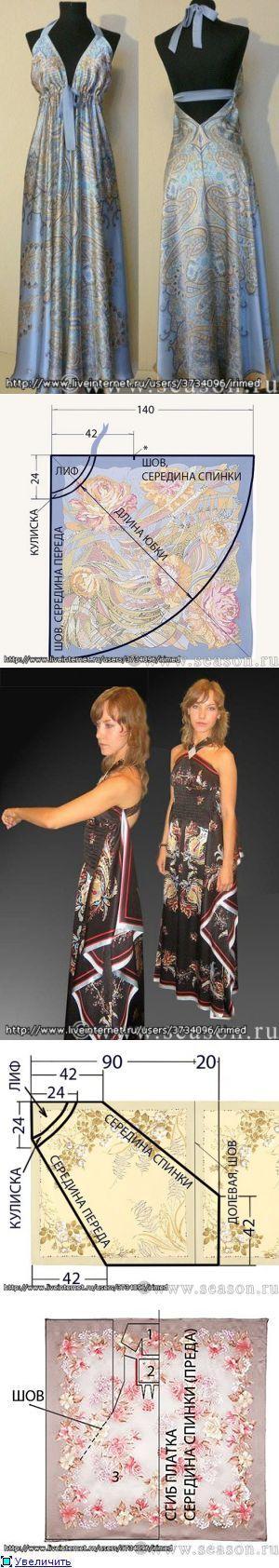 Платья-тюльпаны с выкройками