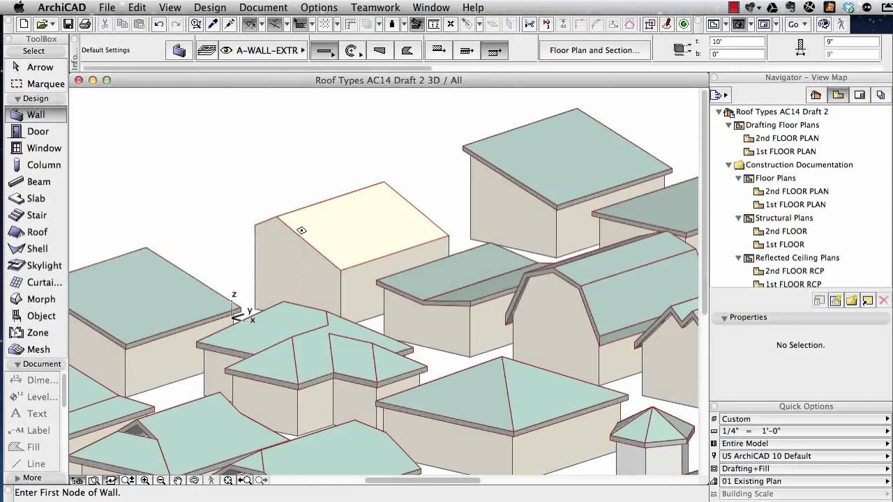 Archicad Tutorial Roof Modeling In Archicad 15 And Above Roof Architecture Program Roofing
