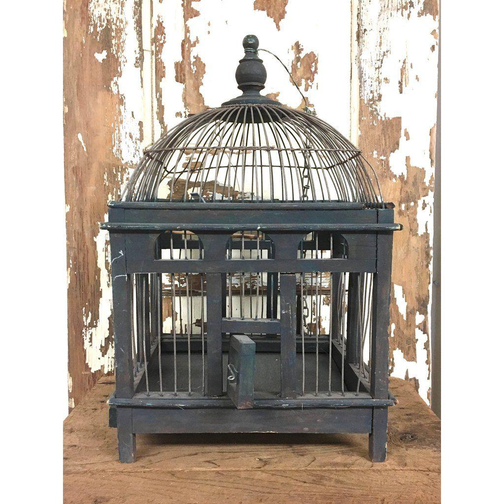 Vintage Blue Birdcage Garden Pinterest Bird Cages Vintage And