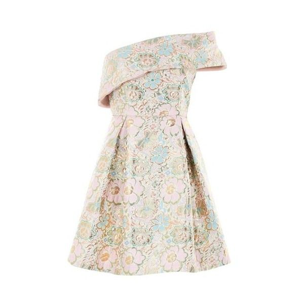Topshop One Shoulder Jacquard Prom Dress ❤ liked on Polyvore (see ...