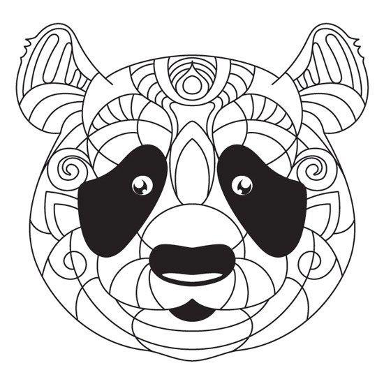 Mandala de Oso Panda para Imprimir PDF Gratis - Zentangle - Mandalas ...