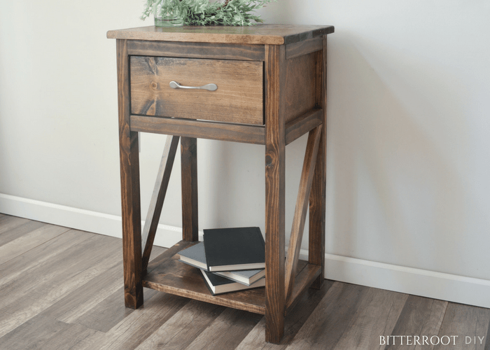 Simple One Drawer Diy Nightstand Simple Nightstand Diy Nightstand Diy Furniture Plans