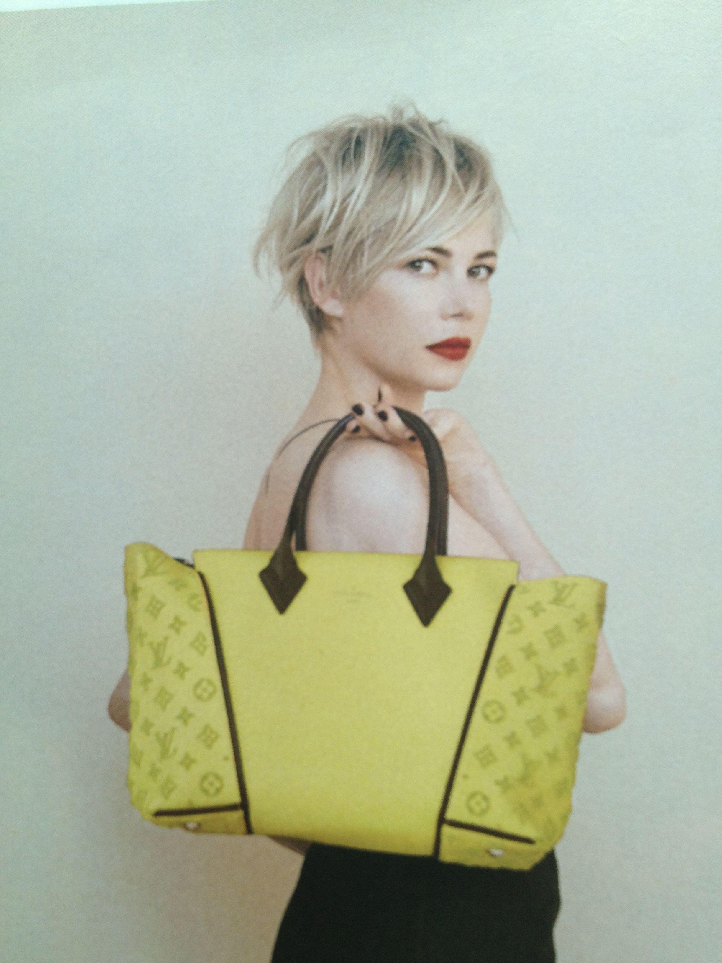 Michelle Williams Louis Vuitton ad.  Beautiful hair!