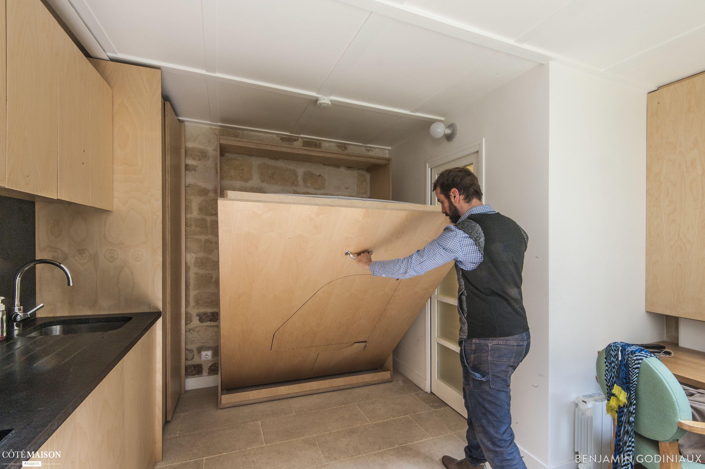 un studio de 12m2 cr de toute pi ce dans une ancienne remise goodnova godiniaux c t maison. Black Bedroom Furniture Sets. Home Design Ideas