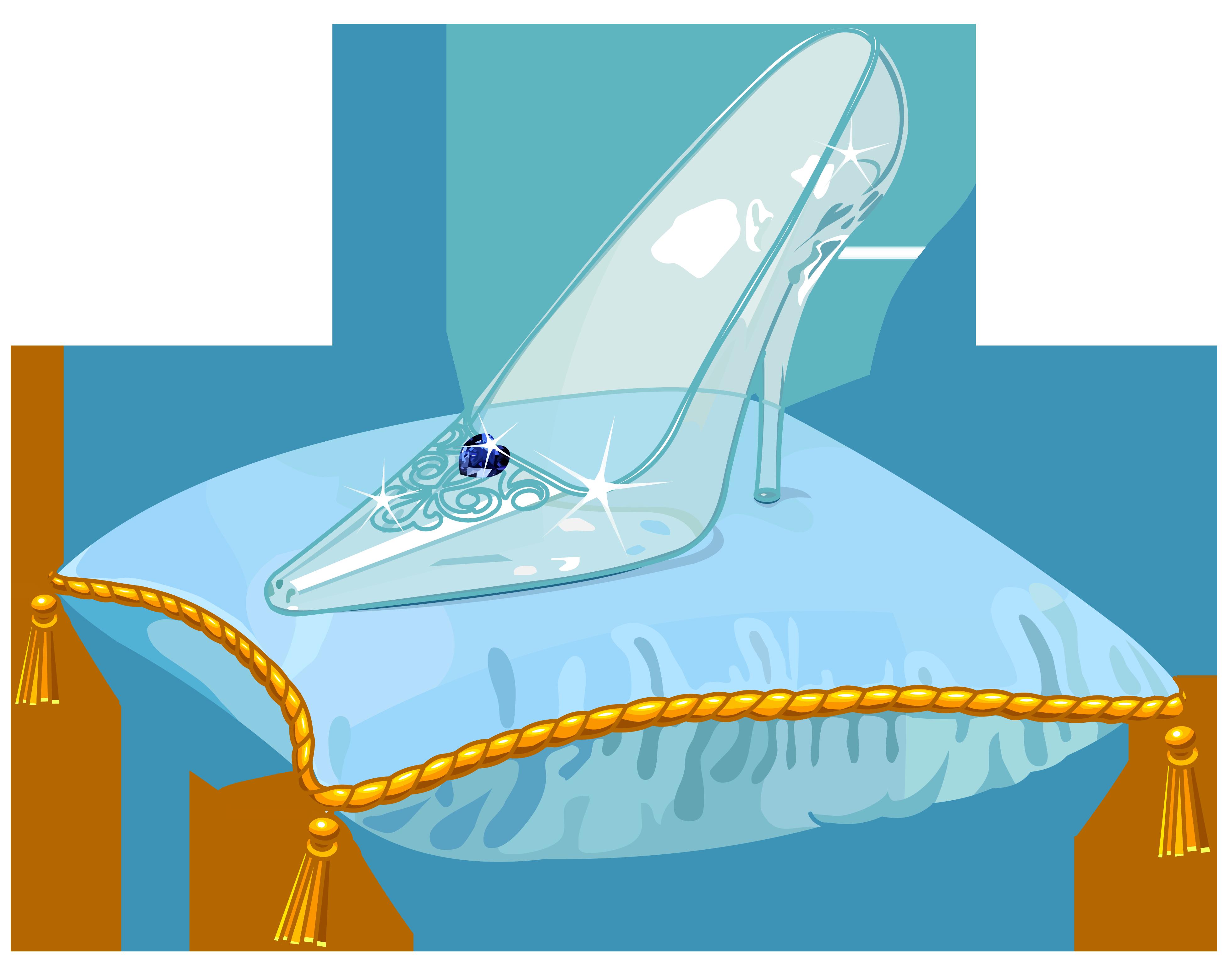 Cinderella Glass Slipper Png Vector Clipart Image Png 3899 3120 Imagem Cinderela Cinderela Feltro Cinderela