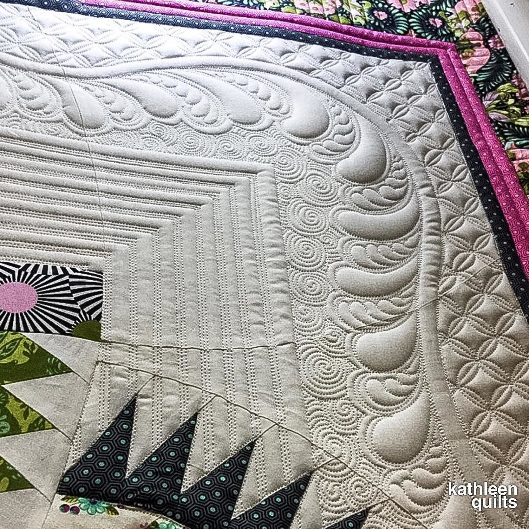 Love the borders! … Machine quilting patterns, Longarm