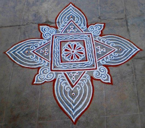 Hello friends...this simple friday padi kolam with kavi is waiting for ur views