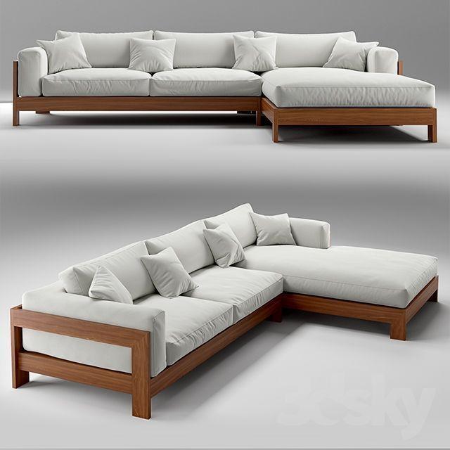 3D-Modell: Möbel: Sofas – Herunterladen auf 3ddd.ru #sofaideas #furnitureredos