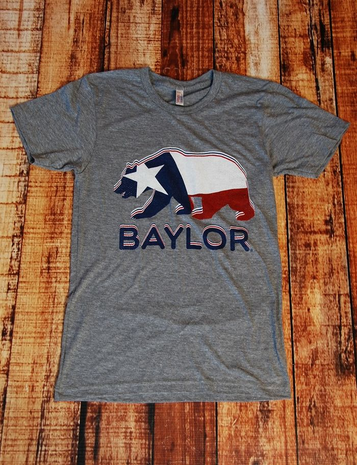 Baylor Texas Flag Walking Bear Athgray At Barefoot Campus Baylor Clothing Baylor Fashion Baylor Bear