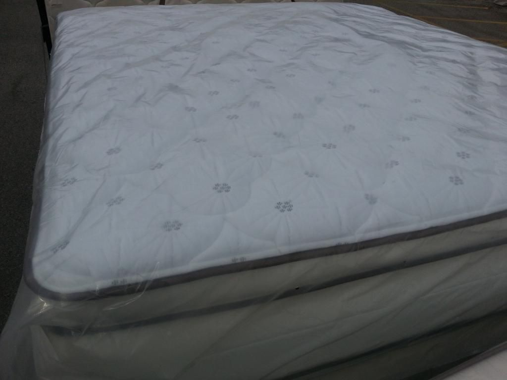 king size pillow top mattress and box spring wow low price