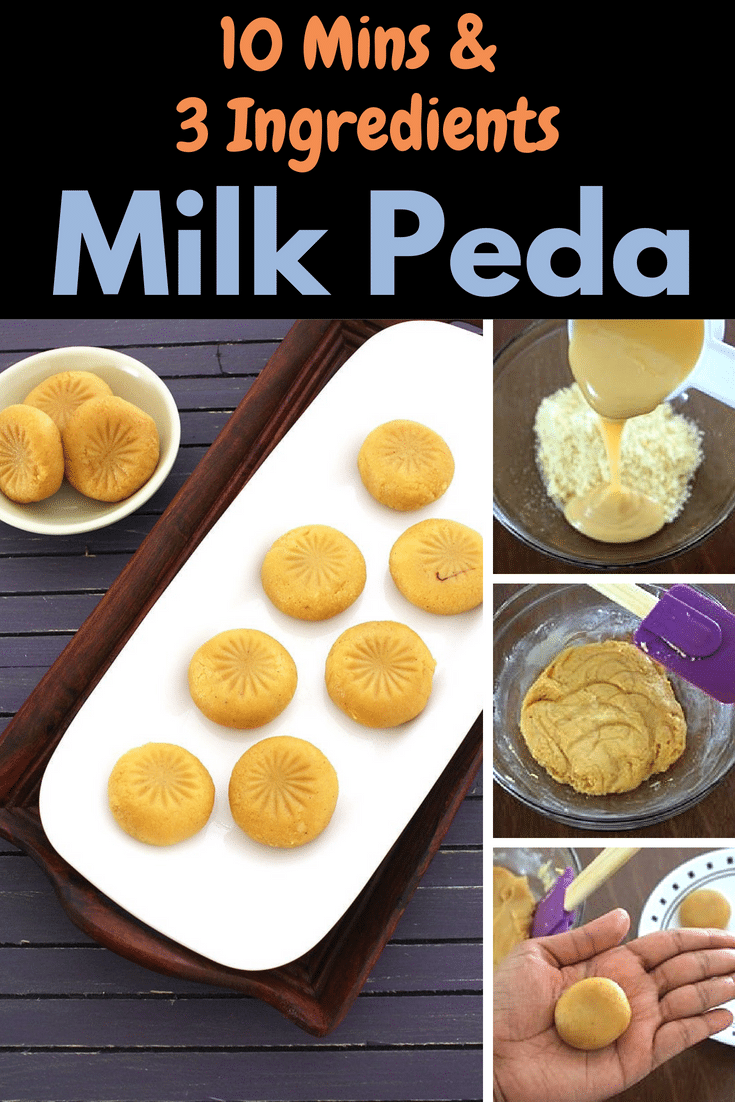 This Instant Version Of Peda Are Made With Condensed Milk Learn How To Make Milk Peda Or Easy Indian Dessert Recipes Easy Indian Dessert Diwali Sweets Recipe